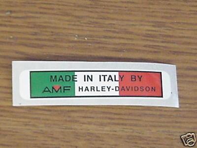 Aermacchi Amf Harley-davidson Rear Fender Decal