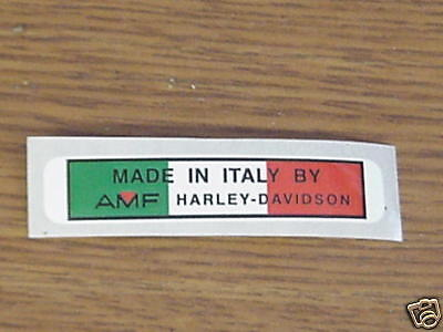 Aermacchi Amf Harley-davidson Rear Fender Decal