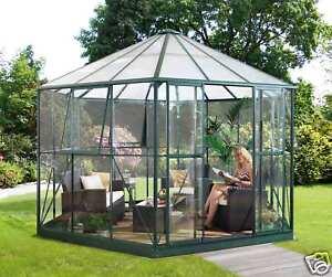 edler alu glas pavillon gew chshaus pergart 9qm gr n ebay. Black Bedroom Furniture Sets. Home Design Ideas