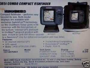 fishfinder humminbird 385i combo compact 137 4076801 marine, Fish Finder