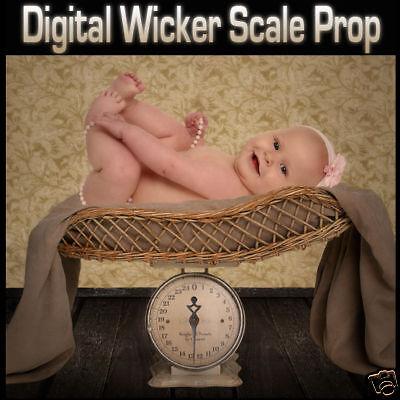 Digital Background Backdrop & Digital Wicker Scale Prop For Green Screen On Cd