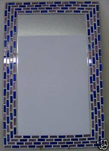 ART-DECO-STYLE-OBLONG-MOSAIC-BATHROOM-MIRROR-BNIB