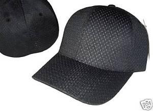 BLACK-FLEX-ULTRA-FIT-MESH-BASEBALL-CAP-HAT-CAPS-SZ-L-XL