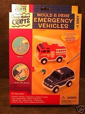 Mould & Paint Emergency Vehicle Craft Kit