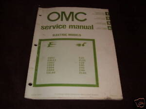 1981 evinrude electric outboard motor repair manual ebay. Black Bedroom Furniture Sets. Home Design Ideas