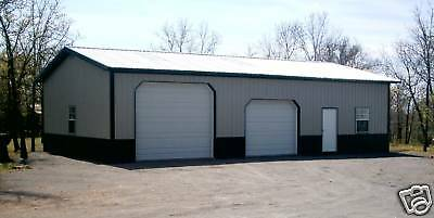 Pole Barn 30x50 W/ Overhangs Matrl List Building Plans E-delivery Pdf Or Word