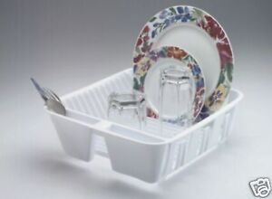 RUBBERMAID-TWIN-SINK-PLASTIC-SMALL-DISH-DRAINER-RACK-WHITE-6049-AR
