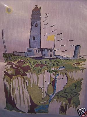 Lighthouse-crewel Complete Kit-giant Size 16 X 20