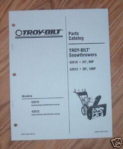 Troy-Bilt Snow Thrower Parts