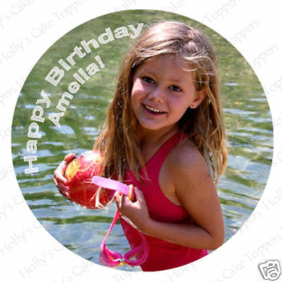 OWN PERSONALISED PHOTO Edible Icing Cake Topper 7.5""