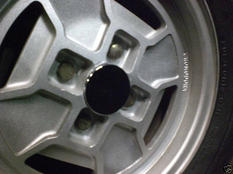 Fiat 124 Spider Alloy Wheel Center Caps Set of 4