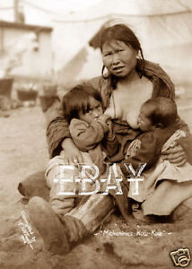 Alaska Ak Native American Eskimo Woman Breast Feeding