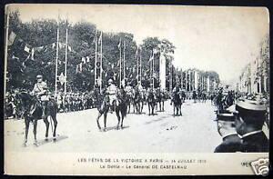 FRANCE~1915 VICTORY PARADE IN PARIS~WWI~GEN. CASTELNAU