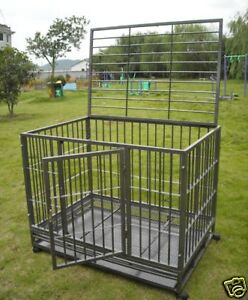 42-Heavy-Duty-Dog-Pet-Cat-Bird-Crate-Cage-Kennel-HS