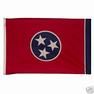 Tennessee The Volunteer State Official Flag 5x8 Ft Outdoor Nylon Made In Usa