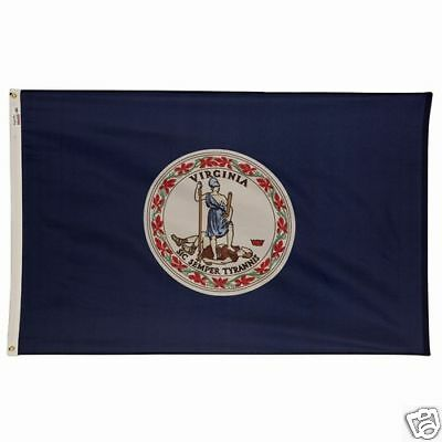 Commonwealth Of Virginia Official State Flag 4x6 Ft Outdoor Nylon Made In Usa