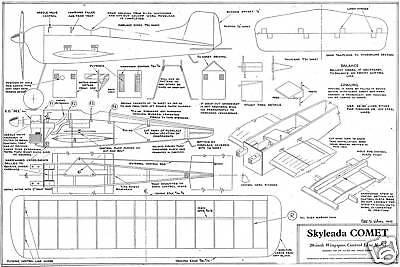 Bma/skyleada Comet Linea Di Controllo Piano 1949-mostra Il Titolo Originale Garanzia Al 100%