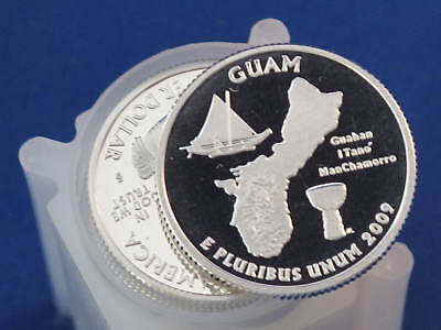 Click now to see the BUY IT NOW Price! 2009 S GUAM TERRITORIES SILVER QUARTER PROOF ROLL OF 40 COINS