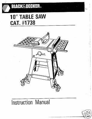 Black And decker cs1010 manual