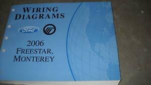 2006 FORD FREESTAR VAN Electrical Wiring Diagram Service Shop Repair Manual