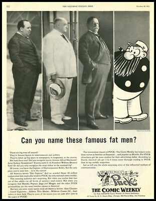 1951 vintage ad for Puck Magazine