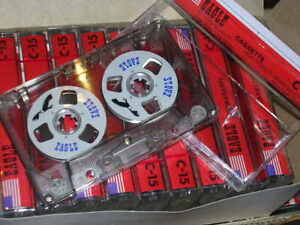 Pack-of-10-x-Vintage-Retro-Reel-cassette-tapes-sealed-C15-blank-for-audio-copy