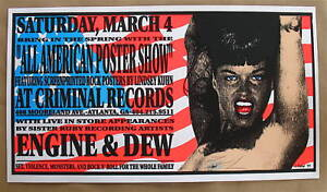 ALL-AMERICAN-POSTER-SHOW-Silk-Screen-Poster-Signed-KUHN