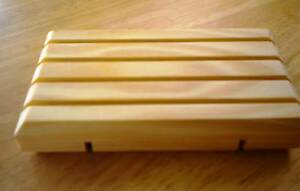 WOODEN SOAP DISH GREAT FOR HANDMADE SOAPS