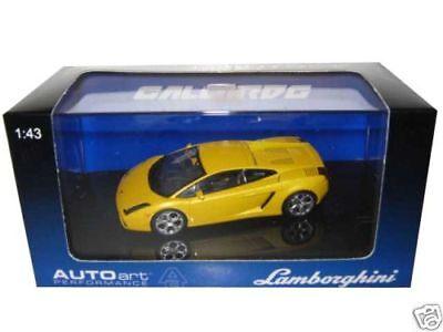 Lamborghini Gallardo Met Yellow 1/43 Diecast Model Car By Autoart 54561