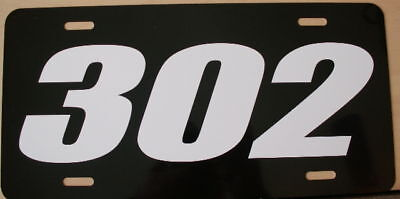 302 Engine Size License Plate Fits Chevy Ford 5.0 Z-28