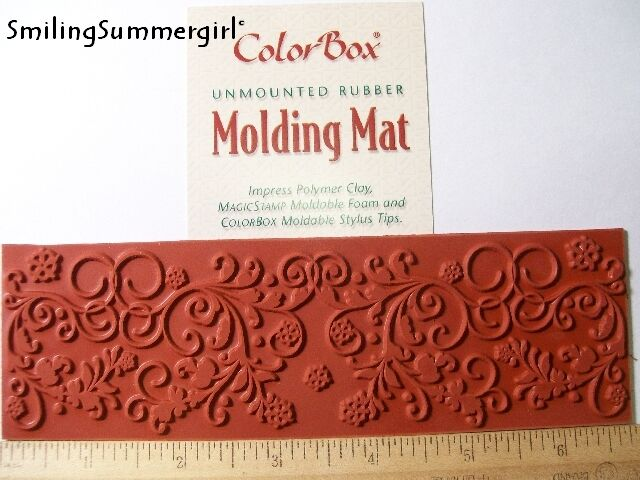 Floral Polymer Clay Molding Mat Texture Rubber Stamp