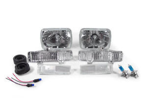 1982-1993 CHEVY S10 PICKUP TRUCK CRYSTAL CLEAR HEADLIGHTS + CORNER LIGHTS COMBO