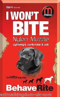 Mikki Nylon Fabric Muzzle For Dogs Size 4