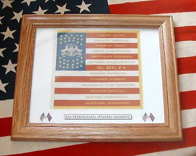 35 Star, American Civil War Flag...61st Pennsylvania