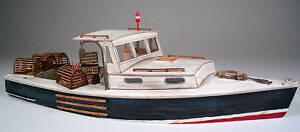 34' LOBSTER BOAT O On3 On30 Waterline Hull Model Railroad Ship Unpaintd Kit FR95