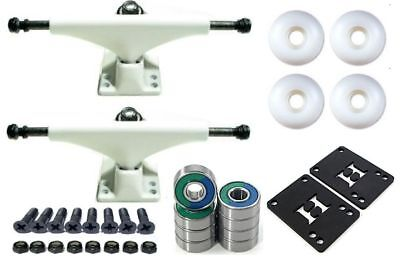 Skateboard Achsen SETUP AMOK Weiß 52mm Rollen Kugellager ABEC 7