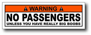 No-Passengers-Big-Boobs-Funny-Warning-Sticker-Decal-ATV