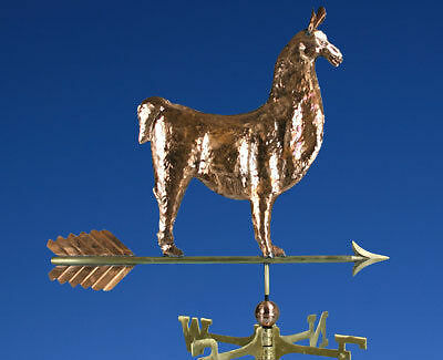 COPPER-PATINA-TRAIN-WEATHERVANE-W-DIRECTIONALS-081G
