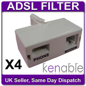 4-x-ADSL-Filter-Splitter-Broadband-MicroFilter-DSL