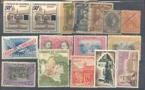 Colombia Stamps x 15 New & Used + 1 Paraguay Stamp L@@K