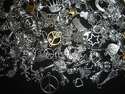Lot Of 125 Pieces Mixed Silver Gold Charms Pendants Mix Pick Your Themes