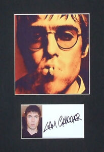 Liam Gallagher Signed Mounted Photo Display, Oasis