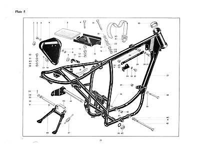 BSA Parts Manual B25 Starfire 1968 Factory Replacement