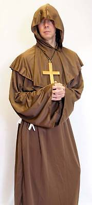 Fancy Dress Medieval Monk/pilgrim With Cross All Sizes