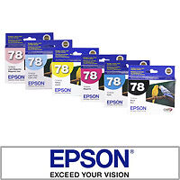 6-NEW-Genuine-Epson-78-Ink-Cartridges-Artisan-50-R260