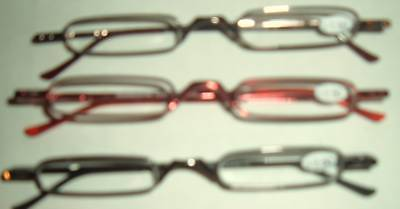3 Pr Skinny Mini Slim Thin Reading Glasses Power +350 With Case