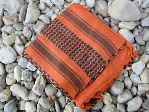 plo foulard charpe palestinien keffieh orange noir tactical charpe camouflage ebay. Black Bedroom Furniture Sets. Home Design Ideas