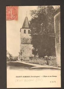 SAINT-AGNAN-24-HOTEL-EGLISE-amp-Arbre-ORMEAU-en-1906