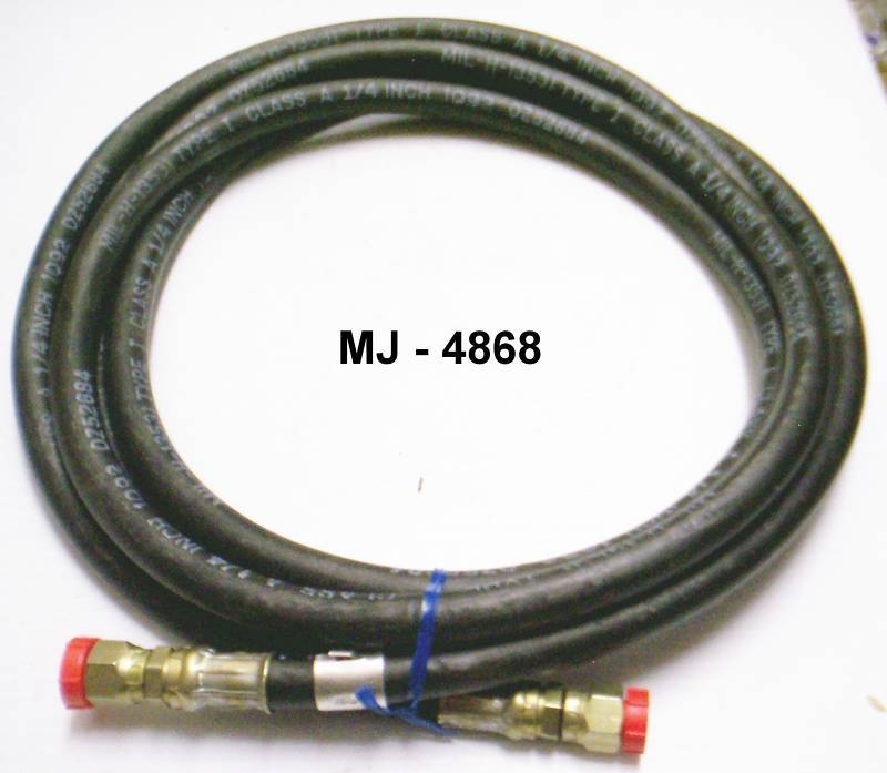 Nonmetallic Hose Assembly with Nuts on Ends - P/N: MIL-H-13531