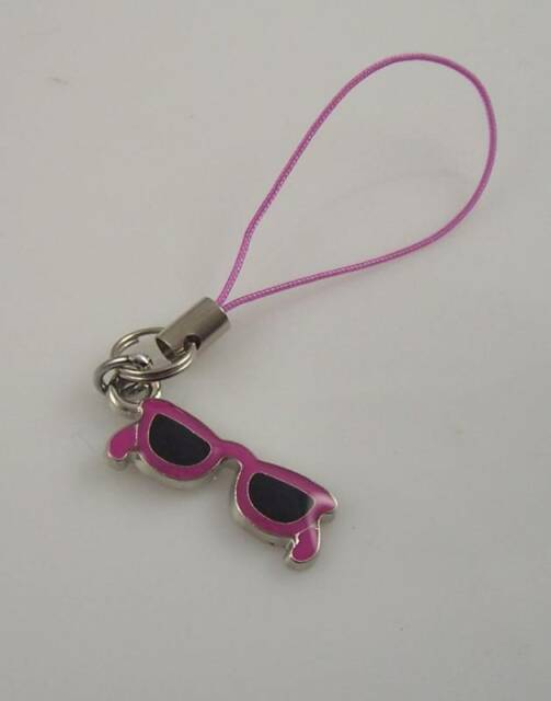 sunglasses Purple cell phone charm or purse charms glas